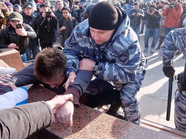 Gli studenti russi in piazza, Navalny in carcere