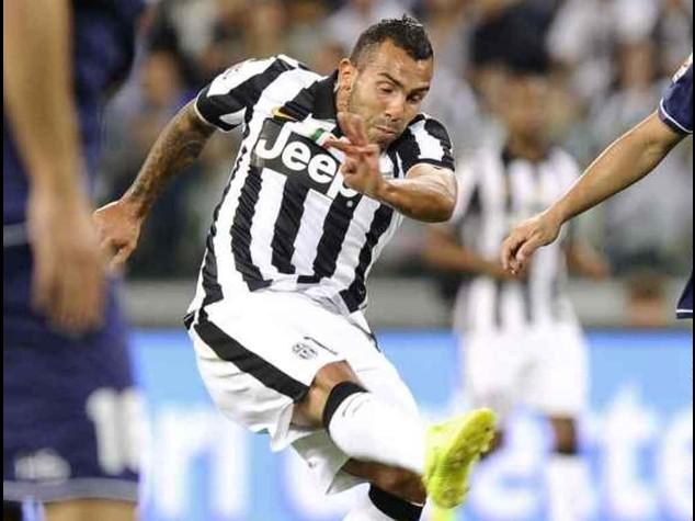 Champions: Juventus-Malmoe 2-0; doppietta Tevez in gol dopo 5 anni