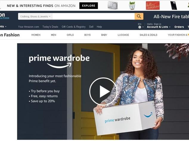 Con Amazon Prime gli abiti si provano prima dell'acquisto