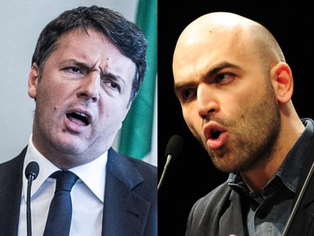 Le 13 volte in cui Saviano ha attaccato Renzi, dal 2014 a oggi