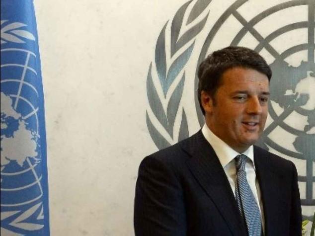 """Renzi al vertice Onu: Italia """"impegnata contro l'Isis e in difesa del clima"""""""