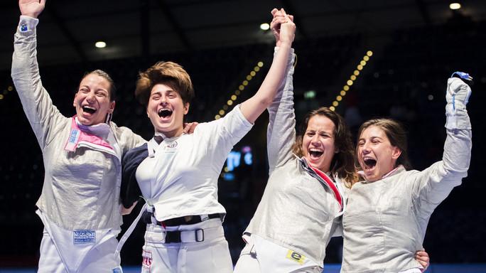 Le sciabolatrici italiane conquistano l'oro a Lipsia