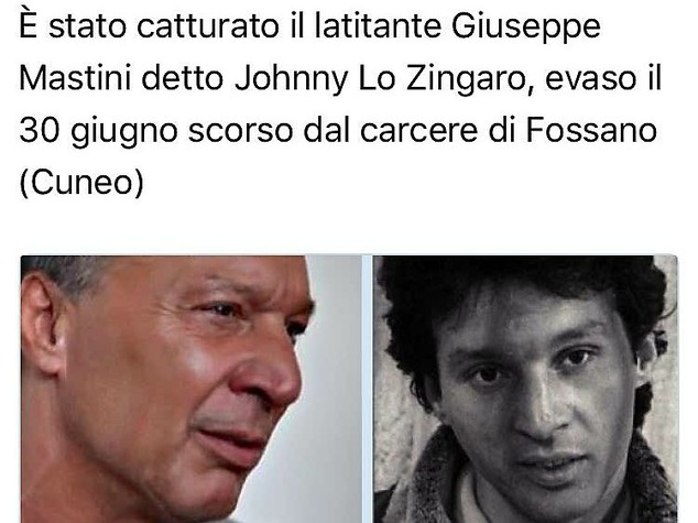 Johnny lo zingaro catturato in Toscana