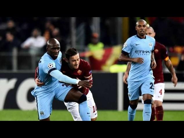Il Manchester City batte la Roma 0-2, inglesi qualificati