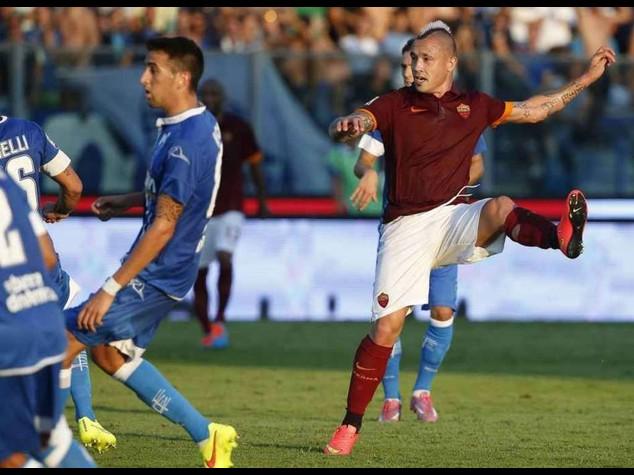 Calcio: Roma soffre ma passa con un autogol, Empoli ancora a zero