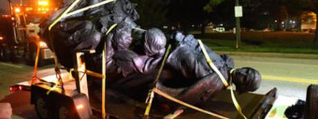 Statue rimosse Baltimora