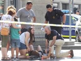 La Rambla di Barcellona dopo l'attentato