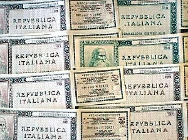Italy's three- and 15-year bond yields hit record lows