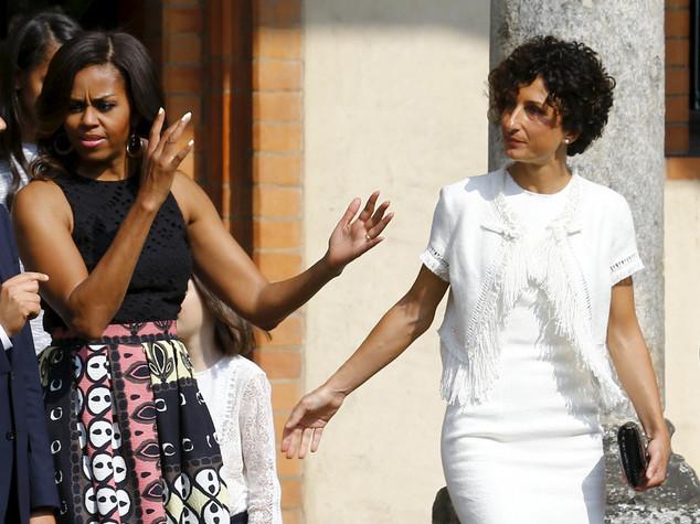 Expo: Michelle Obama a Palazzo Italia, ad attenderla Agnese Renzi