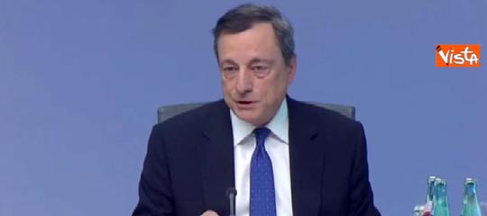 """Bce. Draghi: """"Ripresa ampia, lo slancioproseguirà"""""""