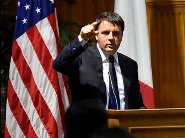 """Renzi: pronti a sfidare poteri forti """"Riforma del lavoro sara' degna"""""""