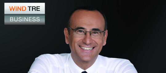 Wind Tre Business, on air la prima campagna TV con il testimonial Carlo Conti
