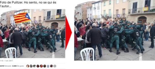 """""""La foto della Guardia Civil che picchia i vigili del fuoco è un falso"""""""