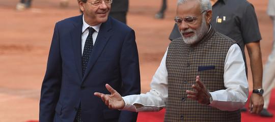 India-Italia:Gentiloni, impegno comune su terrorismo e cambiamenti climatici