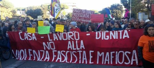 Ostia manifestazione contro Spada. Com'è andata
