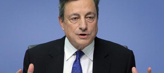 Draghi: fiduciosi in una ripresa robusta, cala indebitamento imprese italiane
