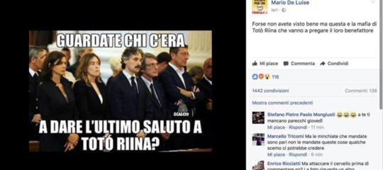 Boschi eBoldrinial funerale di Riina, una fotofakecondivisamigliaia di volte su Facebook