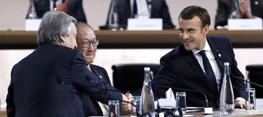macron clima trumpconferenza parigi