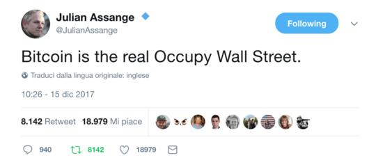 Perché secondoAssangeBitcoinè la vera rivoluzione diOccupyWallStreet