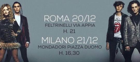 IManeskinallaFeltrinellidi Roma, centinaia di fan in delirio. Il video