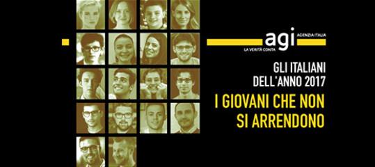 Sono i giovani che non si arrendono gli italiani dell'anno per Agi