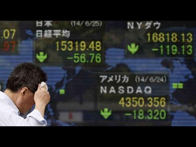 Borsa Tokyo: Nikkei chiude -0, 14%; Euro apre 1, 36 dlr