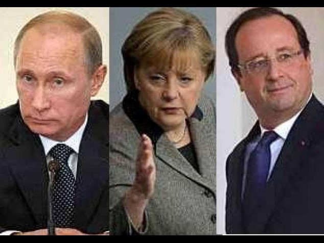 Putin-Merkel-Hollande hold talks on Ukraine