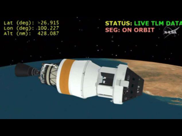 Orion nello spazio, primo passo dell'uomo verso Marte- Foto e Video