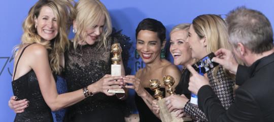 GoldenGlobes: donnein nero contro lemolestie, Guadagnino all'asciutto