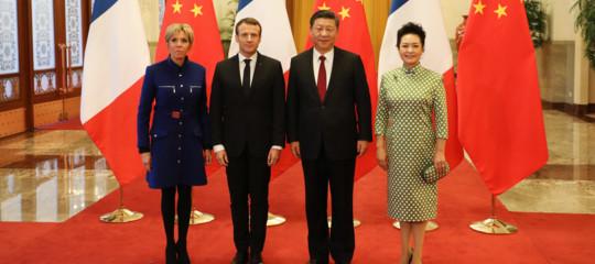 Così Macron a Pechino rilancia la lotta per ilclima e la cooperazione sulla Via della Seta