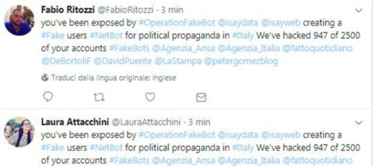 Un gruppo di hackeraccusa unastartupromana di fare 'propaganda politica'. E usa le sue armi per dimostrarlo