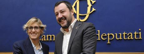 Giulia Bongiorno e Matteo Salvini (AGF)