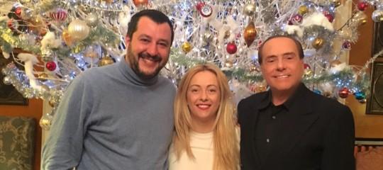 Centro destra: Berlusconi, Salvini e Meloni firmano il programma