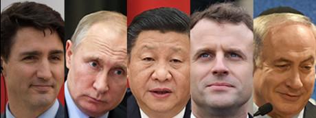 Trudeau Putin Xi Jinping Macron Netanyahu (AFP)