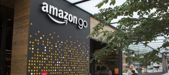 spesa supermercato è passi non alla un Go la fai e Amazon cassa dove t0qU6Bxf