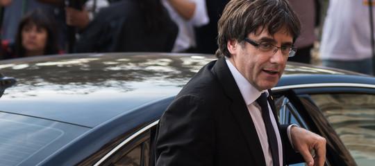 "Catalogna: Puigdemont chiede ""protezione"" al Parlamento"