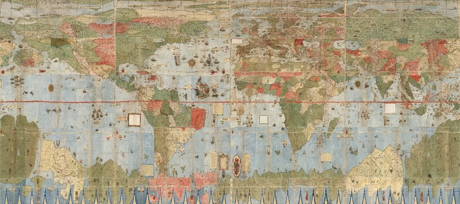 Cartina 1500.A Stanford Hanno Digitalizzato La Piu Grande Mappa Del Mondo Del 1500 E Di Un Italiano