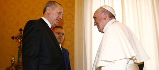Papa-Erdogan, colloquio di oltre 50 minuti