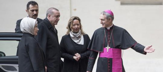 Erdoganarrivato in Vaticano