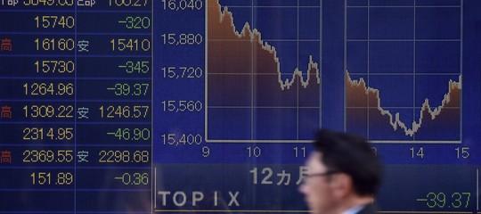 Borse: Asia a picco dopo Wall Street, Tokyo perde 1.200 punti