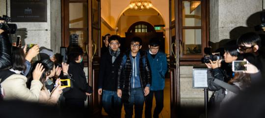 Hong Kong: liberi Wong e altri due attivisti pro-democratici