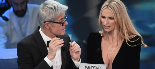 """DaRosatrioal """"cartonato"""" diBaglioni. La prima giornata di Sanremo in tweet"""
