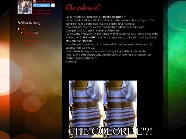 """Foto di vestito diventa virale e fa impazzire il web, """"di che colore e'?"""""""
