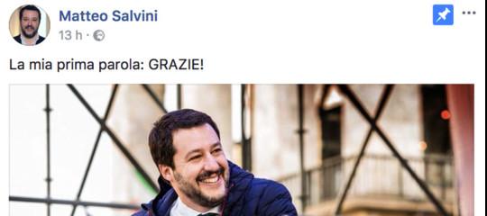 Perché Salvini ha voluto ringraziare Facebook e il popolo della rete