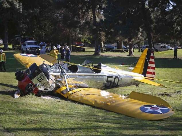 """Harrison Ford cade con aereo Figlio, """"malconcio ma sta bene"""""""