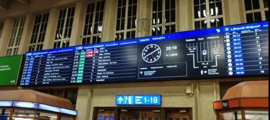 Nelle stazioni ferroviarie della Finlandia si 'parlerà' italiano