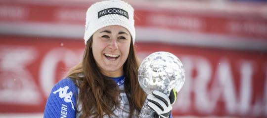Sci: è l'anno d'oro di Sofia Goggia, Coppa del mondo nella libera è sua