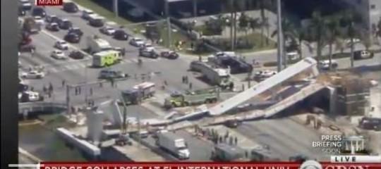 """Miami, ponte crolla su autostrada. Media: """"diversi morti"""""""