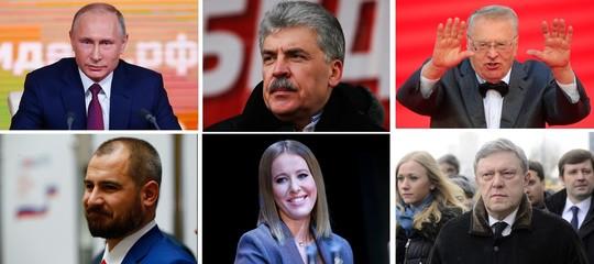 Sarà un plebiscito annunciato, Ma chi sono gli sfidanti diPutin?