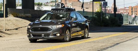 Taxi Uber senza conducente